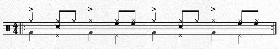 Simple Samba Bass Drum Pattern